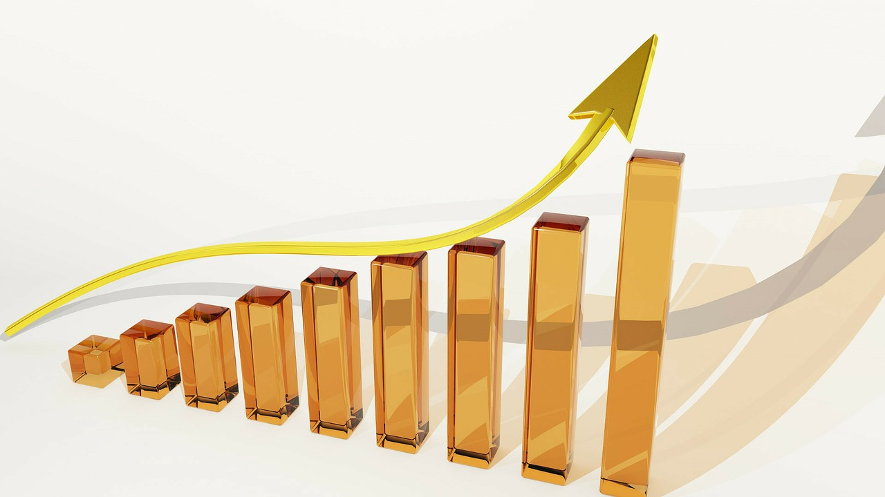 Steadily increasing bar graph representing a positive return on investment (ROI).