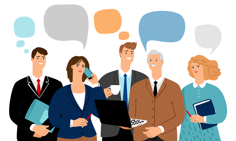 Keys to data-driven content marketing: Illustration of customers reading content