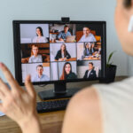 Business woman using video chat to work from home, which makes B2B website personalization more challenging